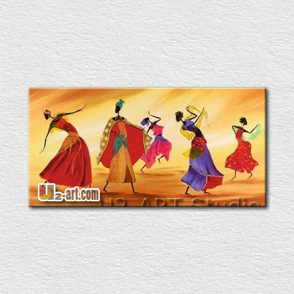Interesting wall pictures dancer oil painting for living room wall <strong>decoration</strong>