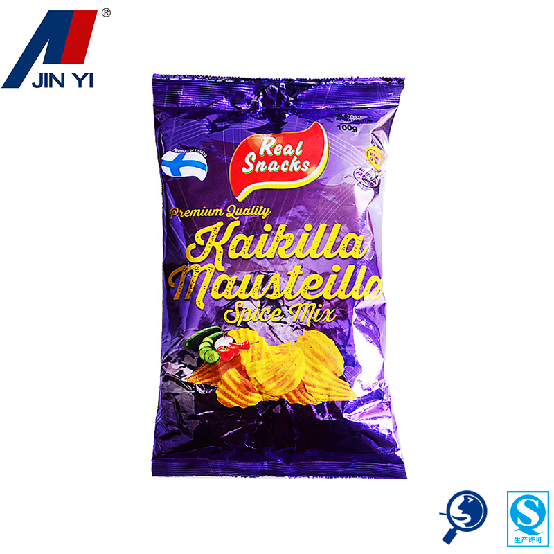 custom printed cheap plastic opp food chips packaging bags