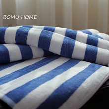Luxury Quality 100% cotton Cabana White Blue Stripe Beach <strong>Towels</strong>