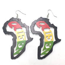 Fashion African Queen Wooden Earrings
