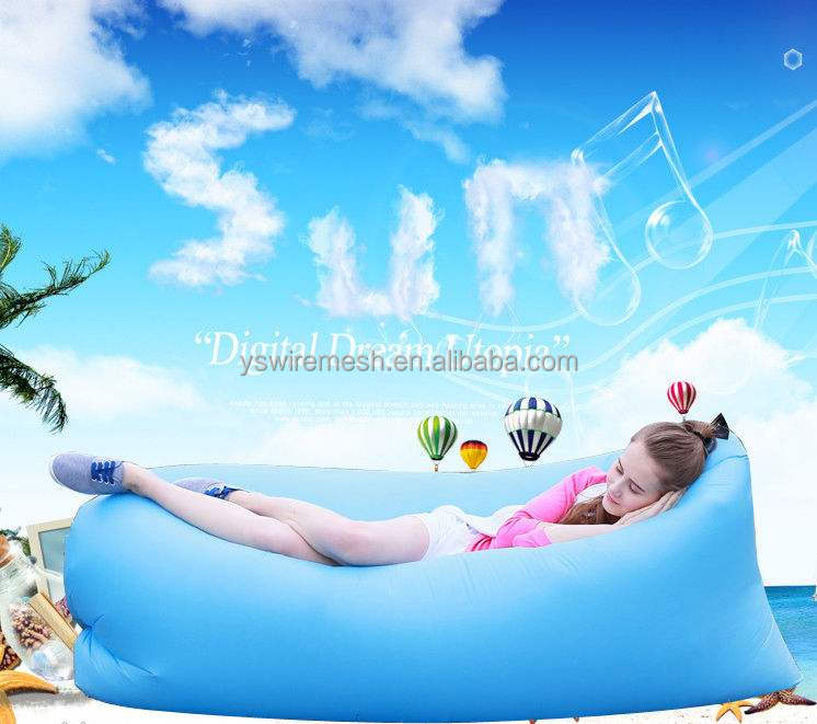 2017 cool summer fast inflating air sofa / sleeping air bag/banana air bag