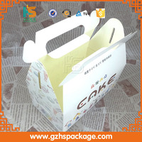 cheap wholesale printing new design custom high quality folding paper cupcake box with handle