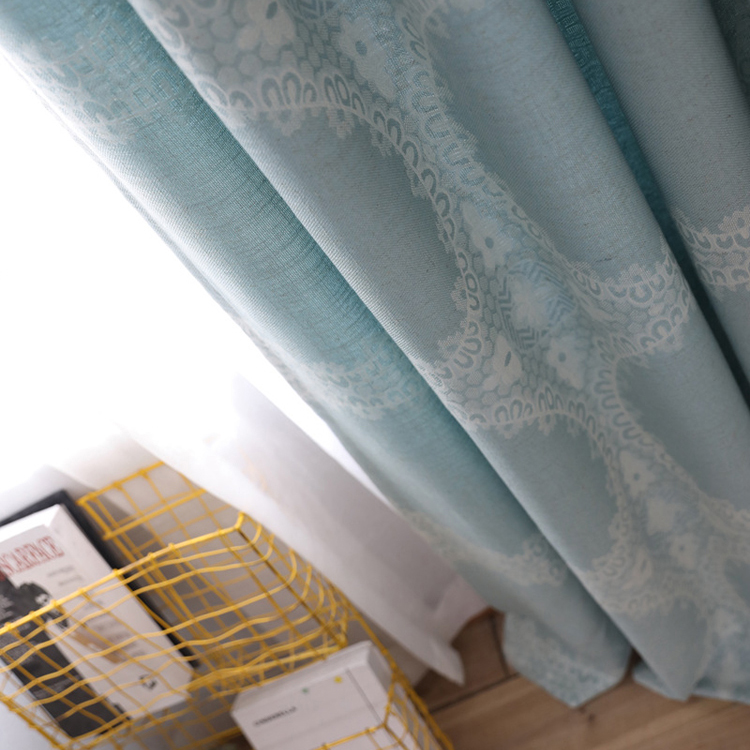 China wholesale market agent luxury mesh embroidery fabric curtain for bedroom
