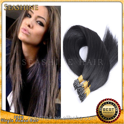 Factory price 100% virgin remy hair i tip hair russian hair extensions wholesale