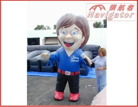 Funny Inflatable Movable Old Man Cartoon