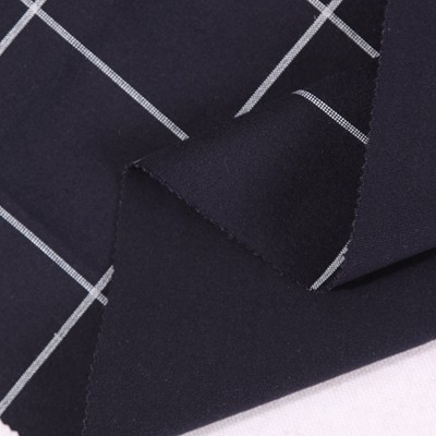 shaoxing factory 40s nylon rayon check print punto suiting fabric for men <strong>new</strong>