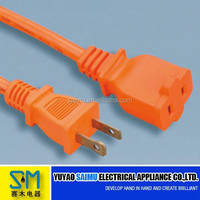 Two pin American UL power extention cord with male and female plug