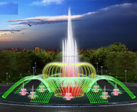 PLC Multimedia DMX lights Outdoor indoor music dancing water fountain
