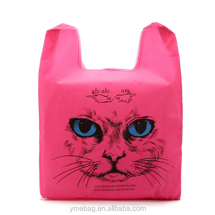 Cat Folding Style and 190T/210T/210D Polyester/Nylon,Polyester Material Foldable Shopping Bag