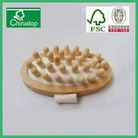 The specially designed health essential oil massage tools body massage brush SPA wooden brush