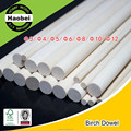 China Shanghai supplier wood round birch stick
