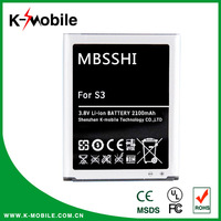 High Capacity gb t18287 Mobile Phone Battery for Samsung Galaxy S3 battery I9300 Battery