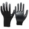 NMSAFETY 13 gauge knitted seamless black polyester liner palm coated black nitrile work safety gloves for light industry