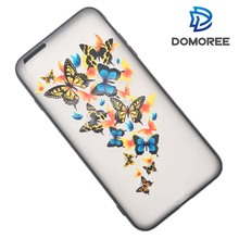 Butterfly crystal Rubber PC and TPU phone case For iPhone