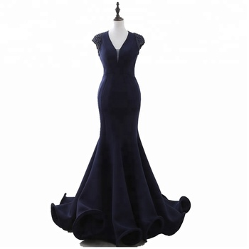 2018 cheap Fashion Night Gown  High Neck Beaded Sequin short Sleeves Long A-Line  Prom Dress sexy backEvening Party gowns s28248