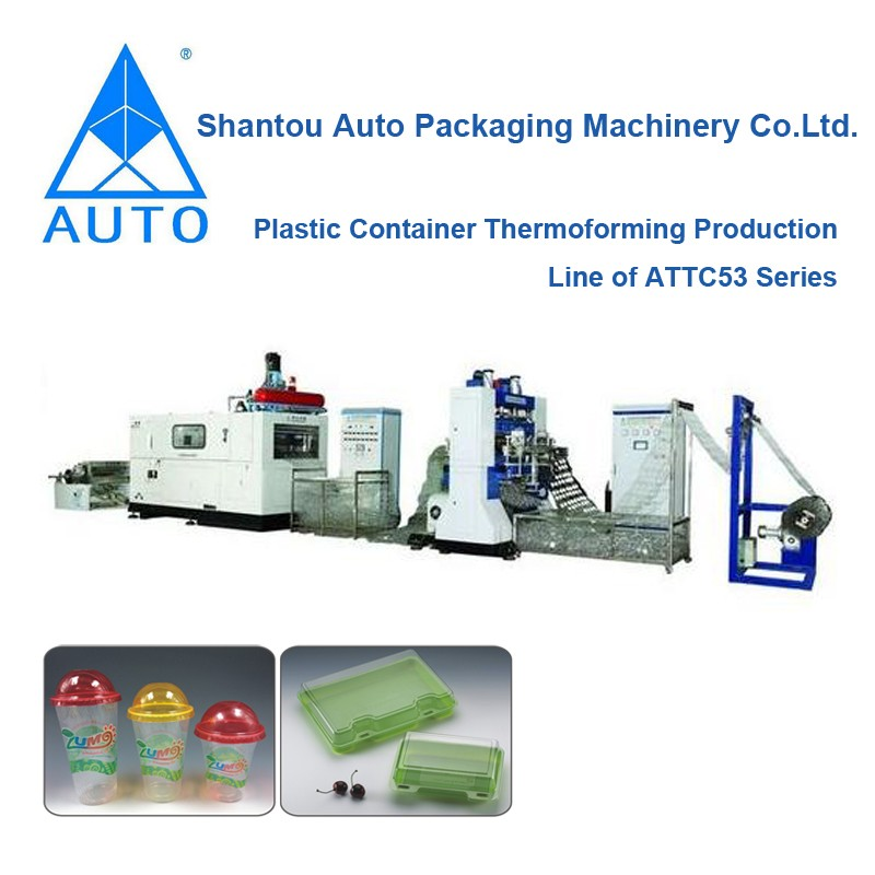 Disposable Plastic Products Thermoforming Thermoplastic Cup Making Machine
