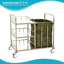 C45 3-tier Hospital Stainless Steel Dirt Trolley