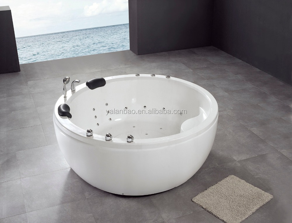 2-3 person luxury round indoor acrylic bathtub
