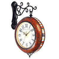 Vintage decorative digital glass double sided flip clock