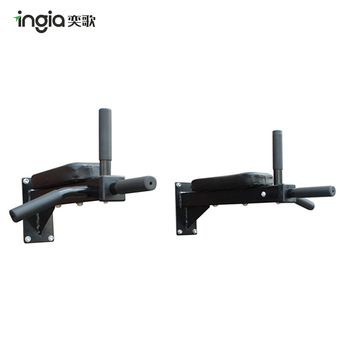 Indoor Iron Wall Mounted Pull Up Bar With 3 Handle Bar