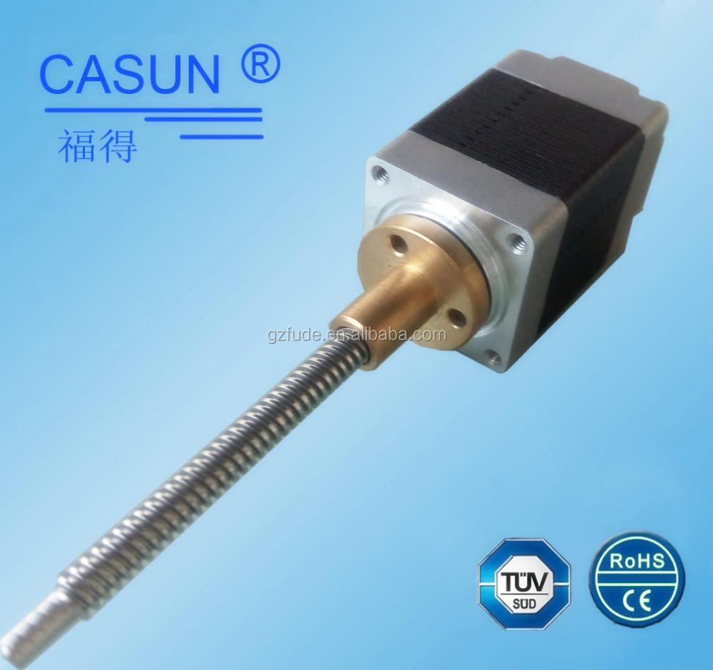 Made in guangzhou 2 phase bipilar lead screw stepper motor for Threaded shaft stepper motor