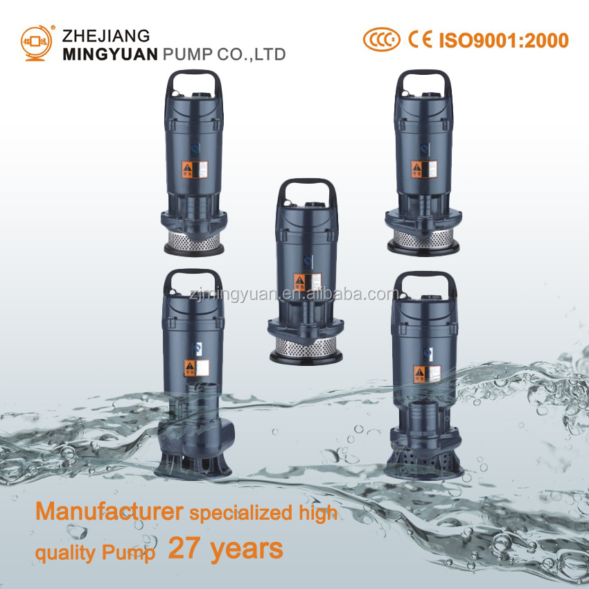 "QDX Series 0.37KW 0.55KW 0.75KW 1"" Inch Aluminum Wire Submersible Clean Water Pump"