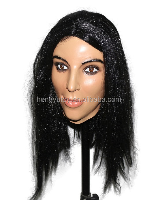 Realistic Beauty Face Awesome Female Latex Transgender Mask for Party Cosplay Masquerade Mask