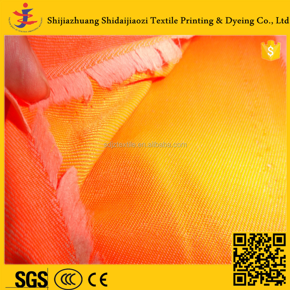100% Cotton Orange Working Flame Retardant Safety Coverall fabric