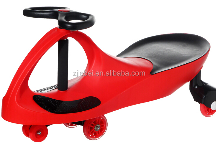 indoor/outdoor high quality rolling plastic Material swing car for children