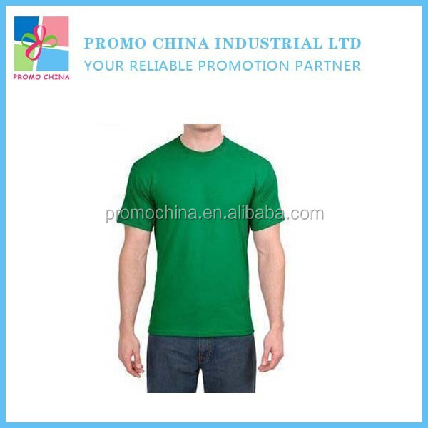 Large Green Tight Cotton Man T-Shirt Custom OEM Man T-Shirt