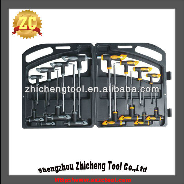 16PC T-handle Hex Key Set