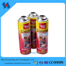 Dia.70mm High Capacity Tin Can/Aerosol Spray Can in CMYK Printing