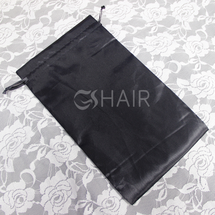 Customised drawstring with logo printing satin bag