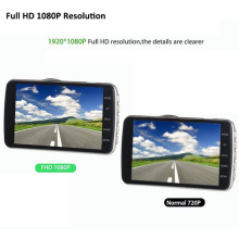 New Arrival 4.0'' LCD Dual Lens Camera HD 1080P Car DVR Video Rear View Recorder