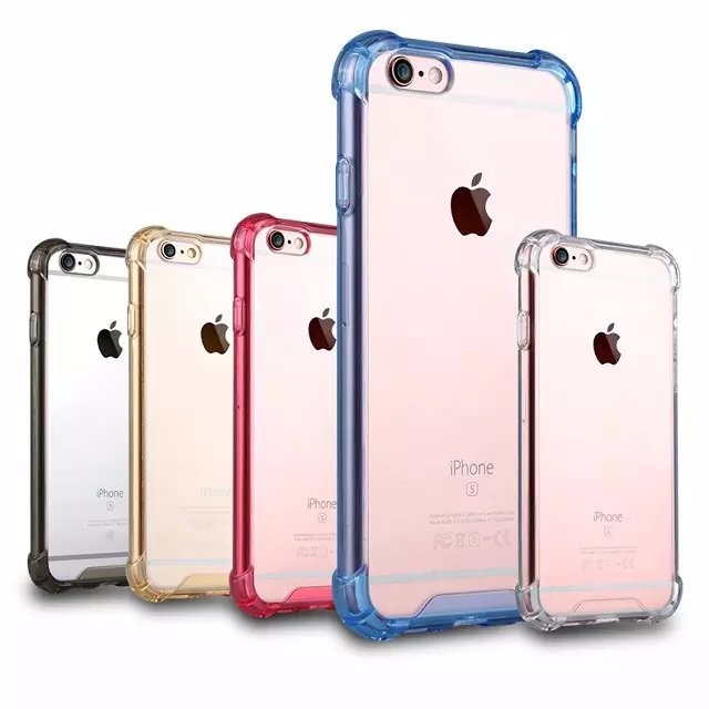Anti-shock Clear Back Acrylic Hybrid PC TPU case for iphone 6s plus, for apple iphone 6s plus hard
