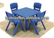 New kids plastic tables and chair for kindergarten
