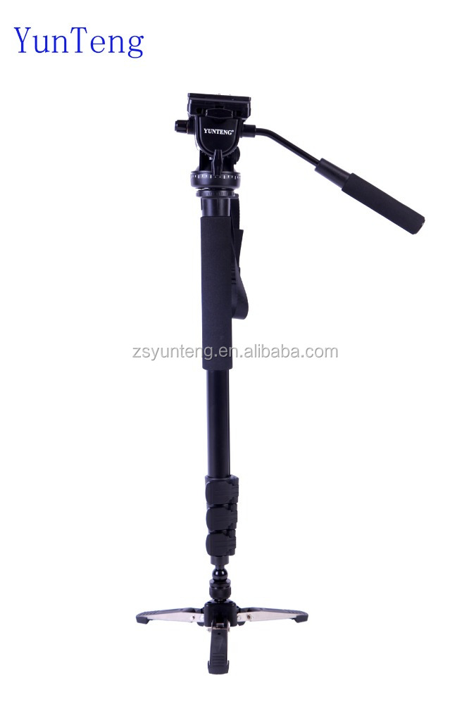 Yunteng VCT-588 Photography Monopod WIth Fluid Pan Head Quick Release Plate