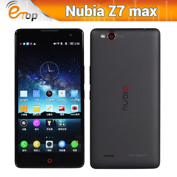 "Available! ZTE Nubia Z7 max lte 4G FDD Qualcomm MSM8974AA 2.0GHz 6.5"" FHD 1920x1080 2GB RAM 32GB ROM 13.0MP WCDMA phone"