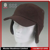 Winter Baseball Cap with Fleece and Ear Muff
