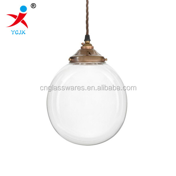 200mm clear glass globe pendant lamp shade/hanging glass ball pendant light