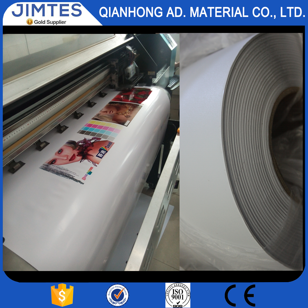 High quality Jimtes PVC advertisement adhesive film use as indoor & outdoor sign or advertising posters