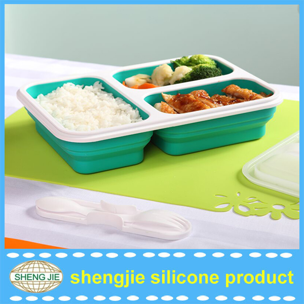 silicone preserving box, collapsible fresh container,silicone lunch box