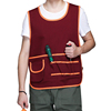 Polyester cotton work practical tool apron with many function pockets