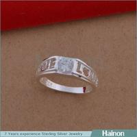 Hainon wholesale men and women lover rings silver