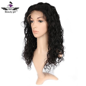 Hot sale China wig good quality brazilian hair swiss lace front transparent lace wig
