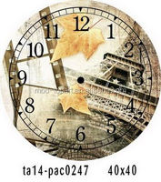 Hot sale simple art western architecture home decor wall clock for home decoration