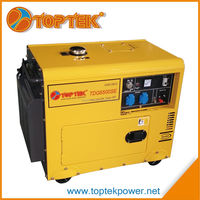5kw silent diesel generator 3-phase 50hz 220v/380v