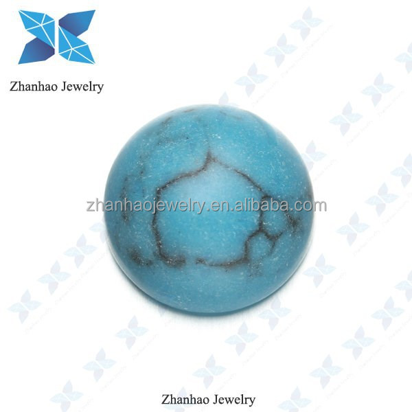 Glass Material Synthetic Turquoise Cabochons Flat back