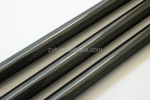 round 3k glossy plain weave carbon fiber tube with factory price
