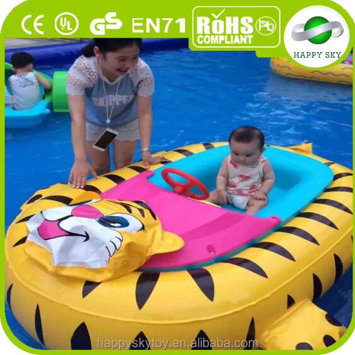 Battery Powered animals inflatable kid electric bumper boats for sale
